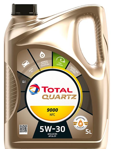 Motorový olej 5W-30 Total Quartz 9000 NFC - 5 L - Oleje 5W-30