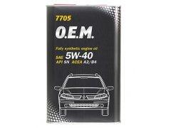 Olej 5W-40 Mannol 7705 O.E.M. Renault - Nissan - 1l Motorové oleje - Motorové oleje pro osobní automobily - Oleje 5W-40