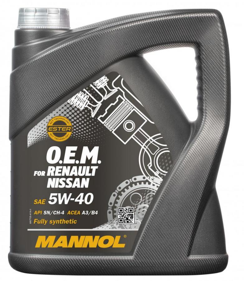 Motorový olej 5W-40 Mannol 7705 O.E.M. Renault - Nissan - 4 L