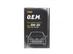 Olej 5W-30 Mannol 7703 O.E.M. Peugeot - Citroen - 1 L Motorové oleje - Motorové oleje pro osobní automobily - Oleje 5W-30