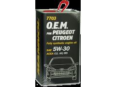Olej 5W-30 Mannol 7703 O.E.M. Peugeot - Citroen - 4 L Motorové oleje - Motorové oleje pro osobní automobily - Oleje 5W-30