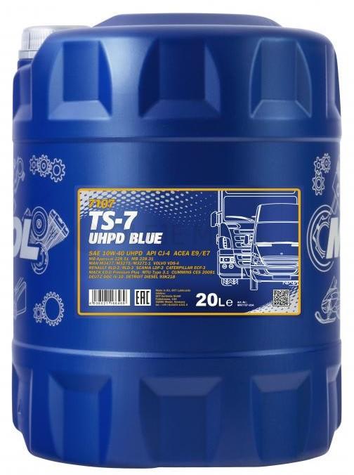 Motorový olej 10W-40 UHPD Mannol TS-7 Blue - 20 L - 10W-40