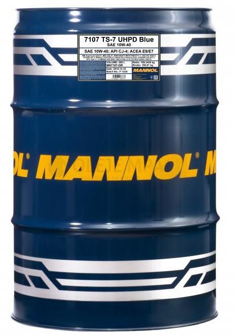 Motorový olej 10W-40 UHPD Mannol TS-7 Blue - 208 L