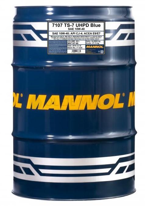 Motorový olej 10W-40 UHPD Mannol TS-7 Blue - 60 L