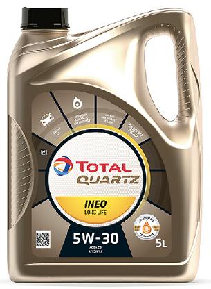 Motorový olej 5W-30 Total Quartz INEO LONG LIFE - 5 L - Oleje 5W-30