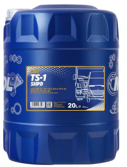 Motorový olej 15W-40 SHPD Mannol TS-1 - 10 L