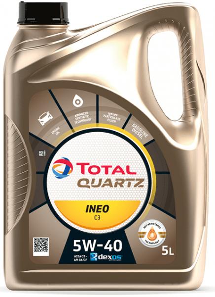 Motorový olej 5W-40 Total Quartz INEO C3 - 5 L