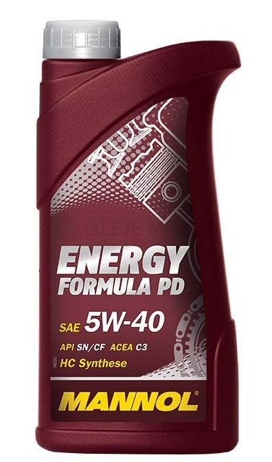 Motorový olej 5W-40 Mannol Energy Formula PD - 1 L - Oleje 5W-40
