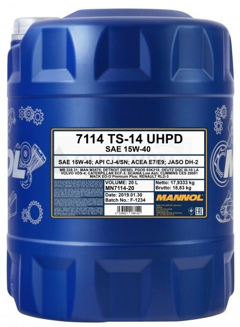 Motorový olej 15W-40 UHPD Mannol TS-14 - 20 L - 15W-40