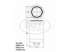 Filtr palivový SCT ST 6106 Filtry - Filtry palivové