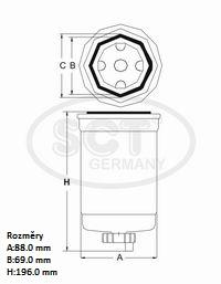 Filtr palivový SCT ST 6106 - Filtry palivové