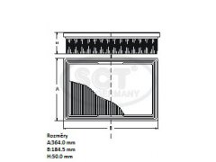 Filtr vzduchový SCT SB 048