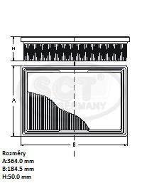 Filtr vzduchový SCT SB 048 - Filtry vzduchové