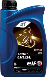 Motorový olej ELF moto 4 Cruise 20W-50 - 1 L - Motorové oleje pro 4-taktní motocykly
