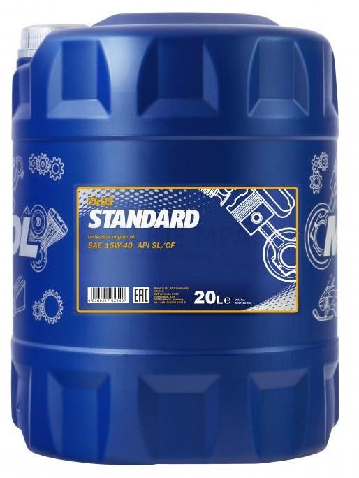 Motorový olej 15W-40 Mannol Standard - 20 L - Oleje 15W-40