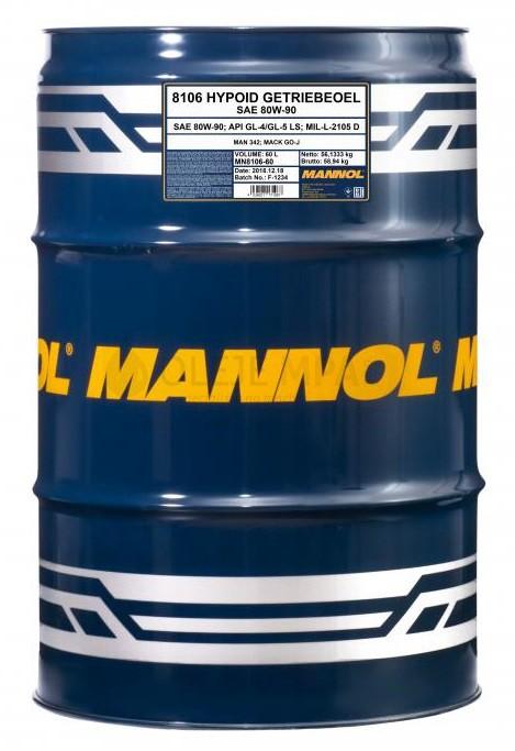 Převodový olej 80W-90 Mannol Hypoid Getriebeoel - 60 L - Oleje 80W-90