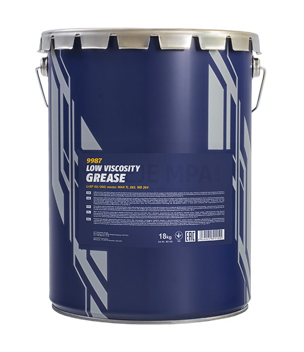 Vazelína Mannol Low Viscosity Grease Li-EP 00/000 - 18 KG - Třída NLGI 0, 00, 000