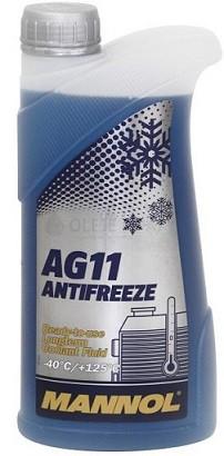 Chladící kapalina Mannol Antifreeze AG 11 -40°C - 1 L
