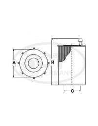 Filtr olejový SCT SH 4793 P - Filtry olejové
