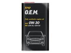 Motorový olej 0W-30 Mannol 7717 O.E.M. Mercedes-Benz - 4 L Motorové oleje - Motorové oleje pro osobní automobily - Oleje 5W-30