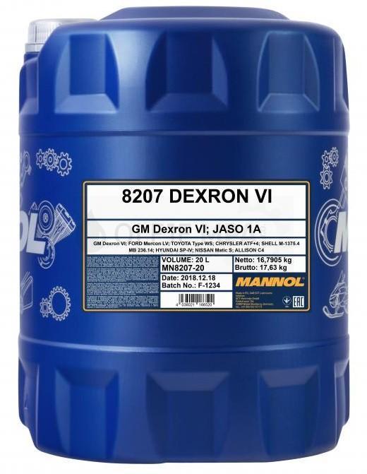 Převodový olej Mannol  ATF Dexron VI - 20 L
