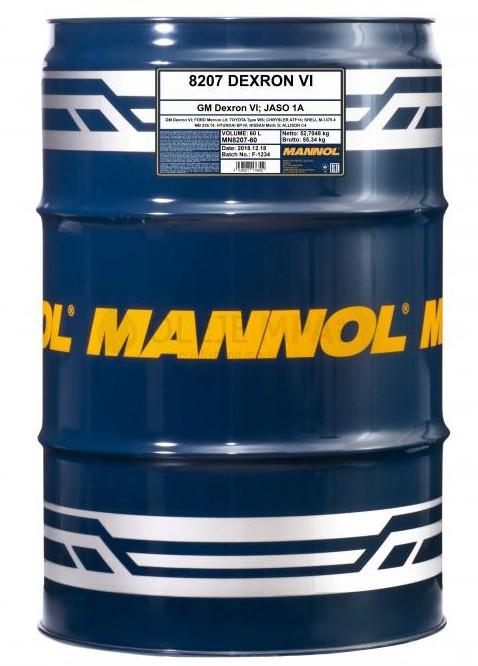 Převodový olej Mannol ATF Dexron VI - 60 L - Oleje GM DEXRON VI