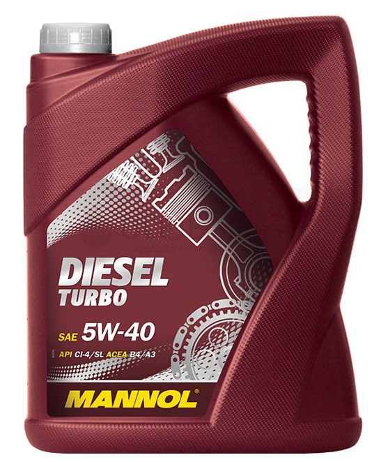 Motorový olej 5W-40 Mannol Diesel Turbo - 5 L - Oleje 5W-40