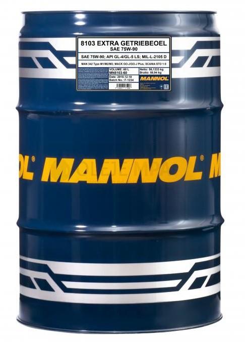 Převodový olej 75W-90 Mannol Extra Getriebeoel - 60 L - Oleje 75W-90