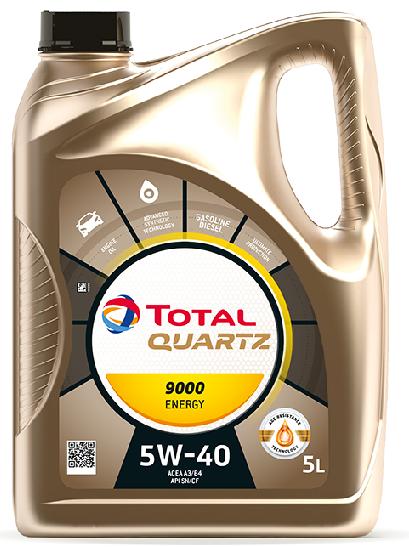 Motorový olej 5W-40 Total Quartz Energy 9000 - 5 L - Oleje 5W-40