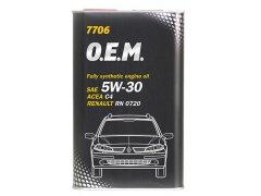 Motorový olej 5W-30 Mannol 7706 O.E.M. Renault - Nissan - 1 L Motorové oleje - Motorové oleje pro osobní automobily - Oleje 5W-30