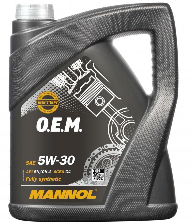 Motorový olej 5W-30 Mannol 7706 O.E.M. Renault - Nissan - 5 L