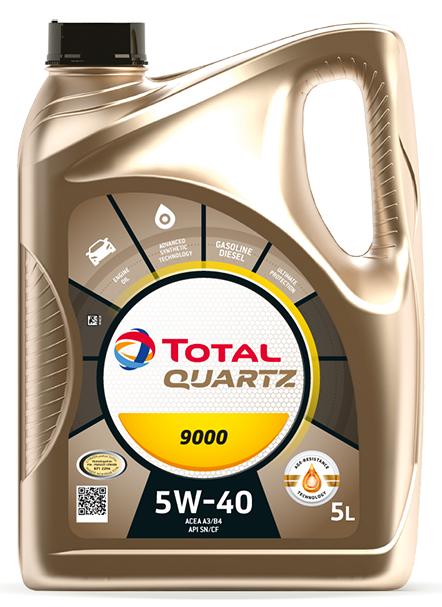 Motorový olej 5W-40 Total Quartz 9000 - 5 L - Oleje 5W-40