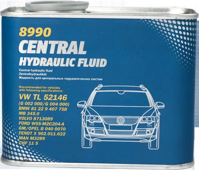 Hydraulická kapalina Mannol Central Hydraulic Fluid 8990 (CHF) - 0,5 L - Olej pro posilovače řízení