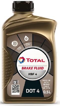 Brzdová kapalina DOT 4 Total HBF 4 - 0,5 L