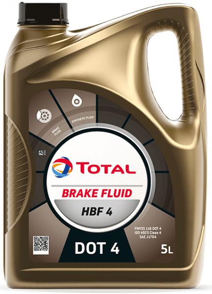Brzdová kapalina DOT 4 Total HBF 4 - 5 L