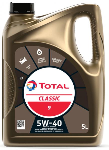 Motorový olej 5W-40 Total Classic 9 - 5 L - Oleje 5W-40