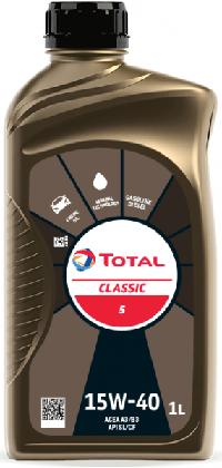 Motorový olej 15W-40 Total Classic 5 - 1 L - Oleje 15W-40