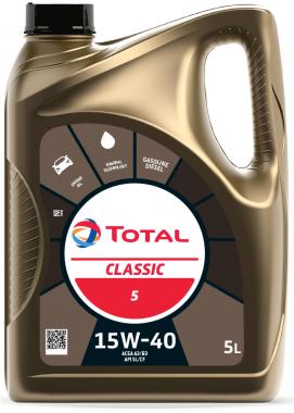Motorový olej 15W-40 Total Classic 5 - 5 L
