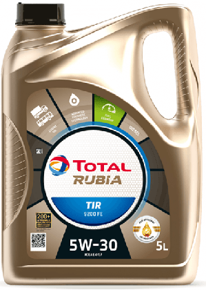 Motorový olej 5W-30 Total Rubia TIR 9200 FE - 5 L