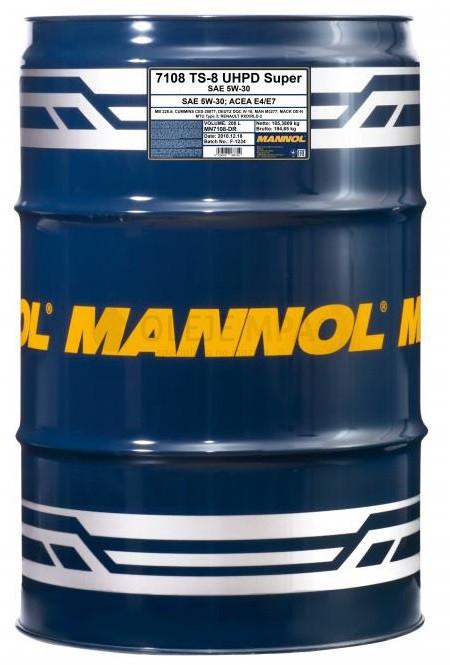 Motorový olej 5W-30 UHPD Mannol TS-8 Super - 208 L