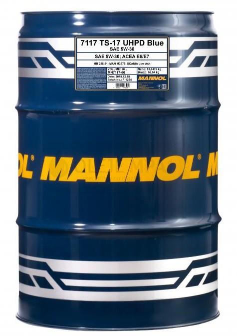 Motorový olej 5W-30 UHPD Mannol TS-17 Blue - 60 L