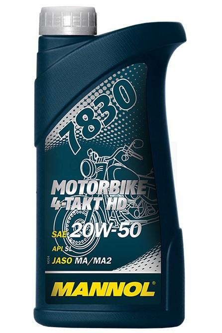 Motocyklový olej 20W-50 Mannol 7830 4-Takt Motorbike HD - 1 L - Motorové oleje pro 4-taktní motocykly