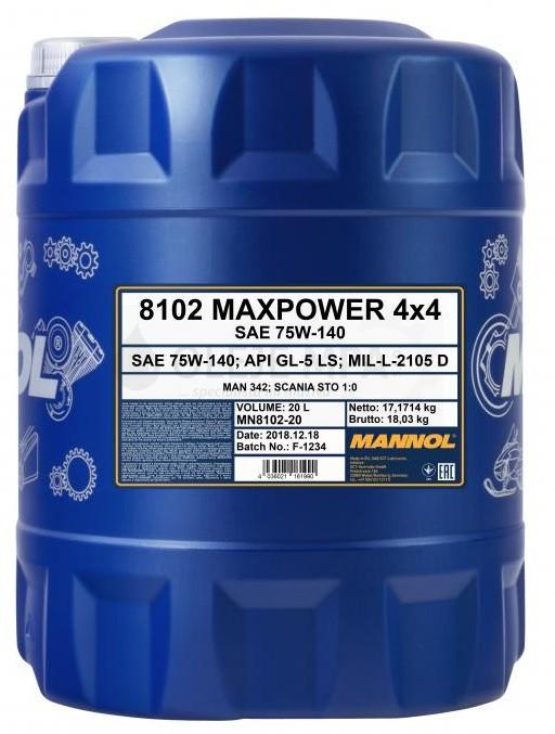 Převodový olej 75W-140 Mannol Maxpower 4x4 - 20 L