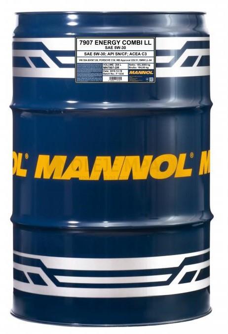 Motorový olej 5W-30 Mannol Energy Combi LL - 208 L - Oleje 5W-30