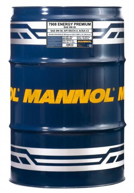 Motorový olej 5W-30 Mannol Energy Premium - 208 L - Oleje 5W-30