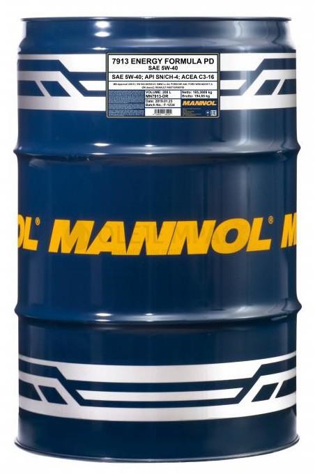 Motorový olej 5W-40 Mannol Energy Formula PD - 208 L - Oleje 5W-40