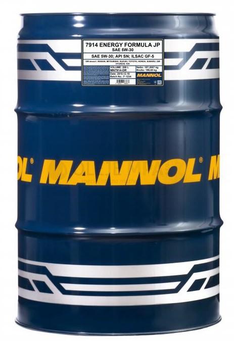 Motorový olej 5W-30 Mannol Energy Formula JP - 208 L - Oleje 5W-30