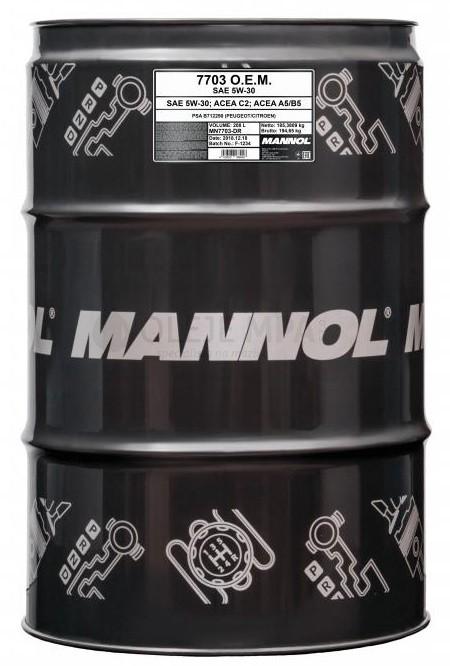 Motorový olej 5W-30 Mannol 7703 O.E.M. Peugeot - Citroen - 208 L - Oleje 5W-30