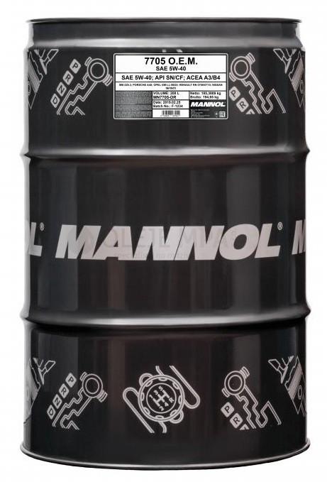 Motorový olej 5W-40 Mannol 7705 O.E.M. Renault - Nissan - 208 L - Oleje 5W-40