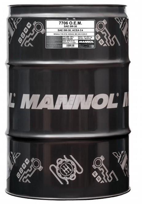 Motorový olej 5W-30 Mannol 7706 O.E.M. Renault - Nissan - 208 L